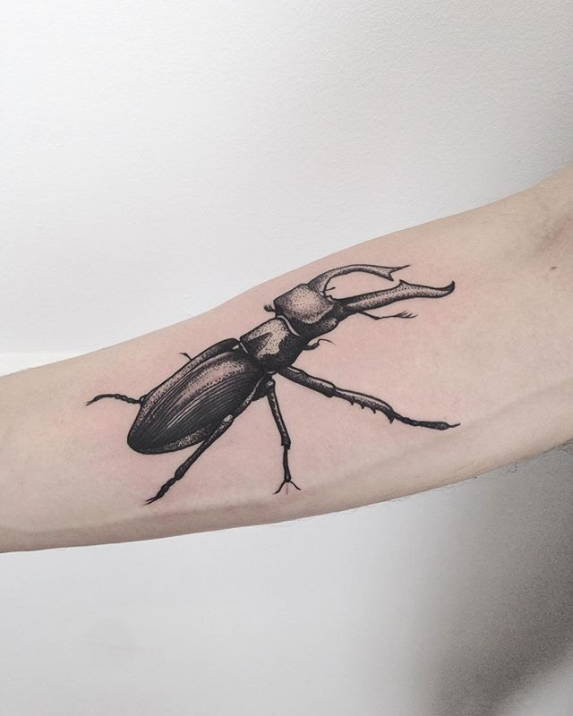 Merci Julien !  #carolinekarenine #tattoo #purplesunbrussels #scarabée #tattoo2me