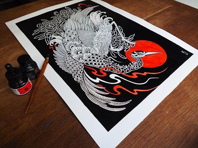 Soon !  New sleeve  Encre de Chine / plume  #carolinekarenine #tattoo