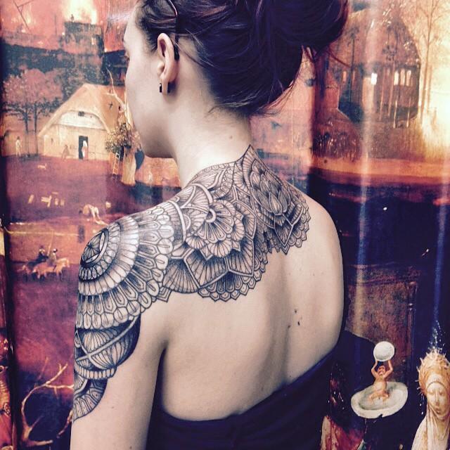 Merci madeline ! #tattoo #carolinekarenine #paris #tribalact #cover