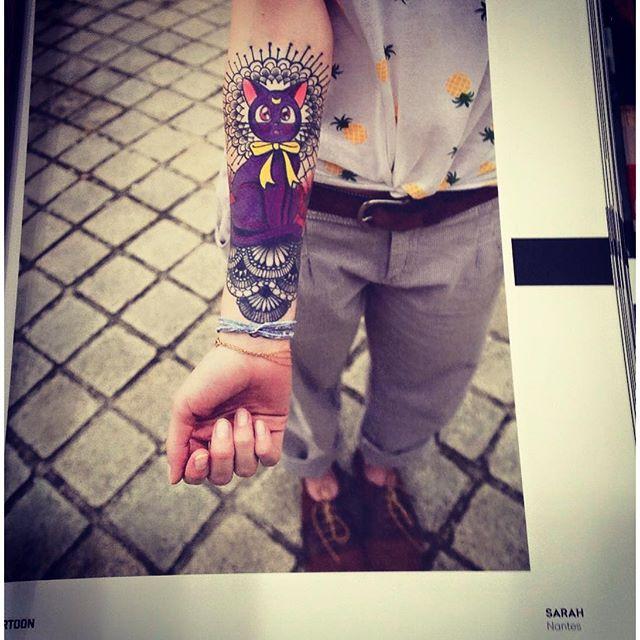 Toujours cool de balader dans une librairie et de tomber sur un de mes tattoo !!