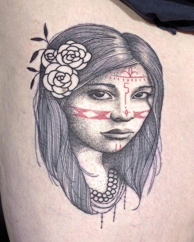 Merci stephanie !  Shop @doloresparisx  Pix @olivierchamor  #carolinekarenine #tattoo #doloresparis #paris #portrait