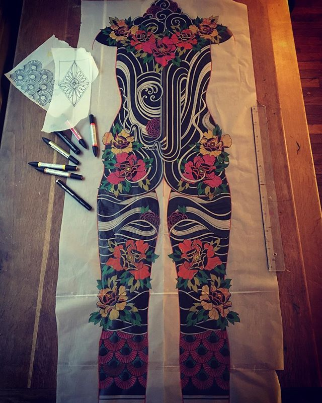 SOON  Body suit  #carolinekarenine #tattoo #cover #bodysuit