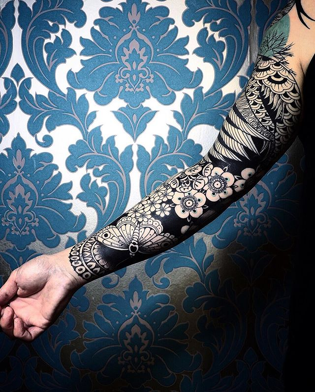Another view of the Soïzic Sleeve !  Done at @dropinshop_lausanne